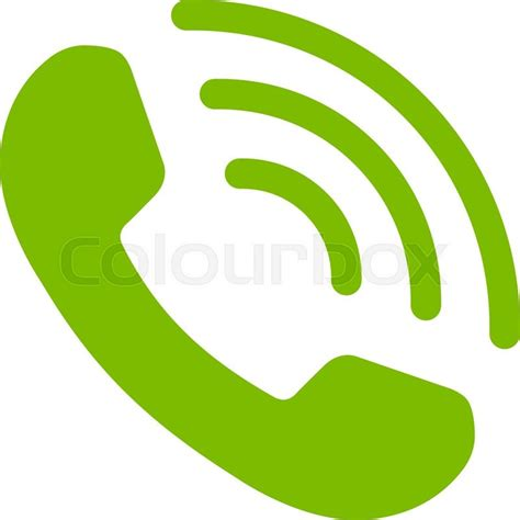 call color phone call vector icon style is flat symbol eco green