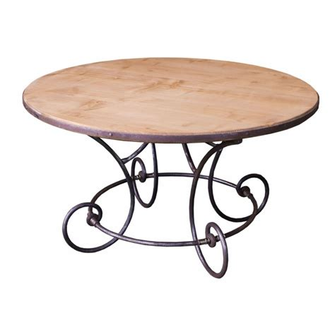 table ronde en fer forge table ronde en m 233 tal fer forg 233 avec plateau en ch 234 ne