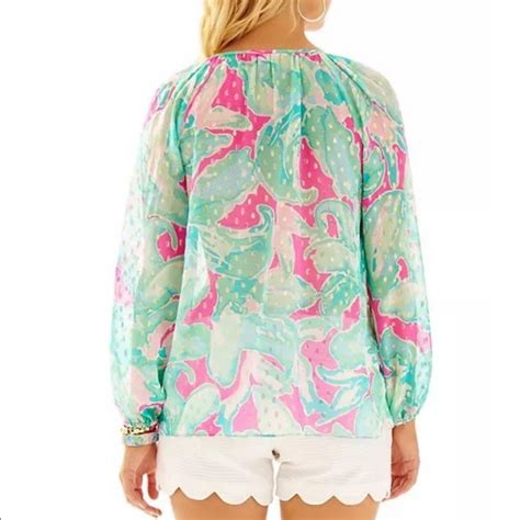 lilly pulitzer blouse 60 lilly pulitzer tops lilly pulitzer rilla