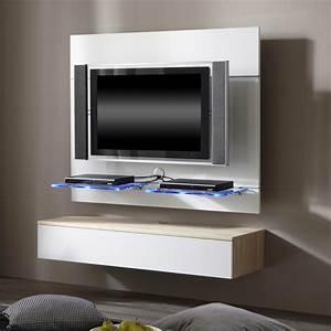 Tv Wand Weiß Hochglanz : tv wand hover 4 inkl h ngemodul wei eichedekor home24 ~ Indierocktalk.com Haus und Dekorationen