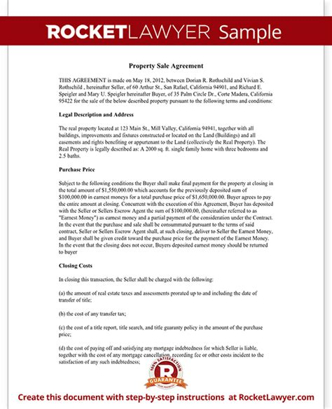 Property Sale Contract (form