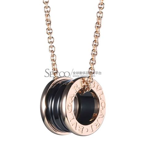 bvlgari宝格丽 项饰 吊坠 bvlgari 宝格丽 b zero1黑色陶瓷玫瑰金项链cl855762 正品