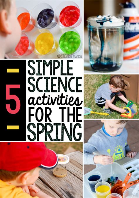 5 science activities the measured 726 | spring science activities