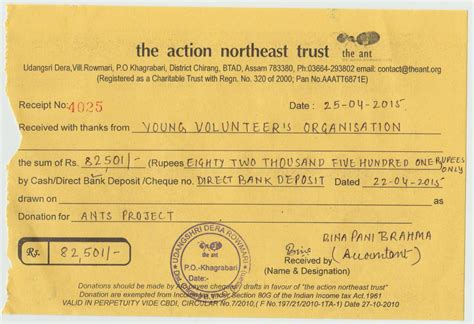 yvo donations to certified trusted ngos ant