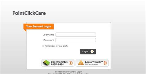 point click care login login page bookmarks prefixes