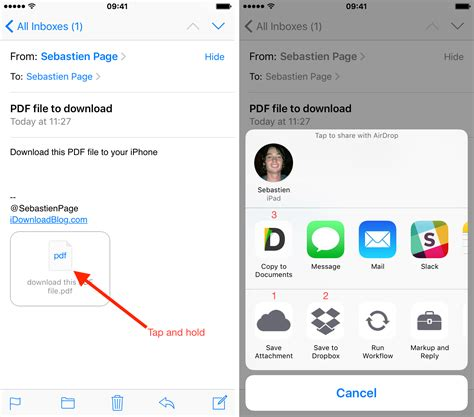 save from to phone how to save email attachments to iphone and