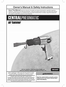 Central Pneumatic 92037 Owner U0026 39 S Manual And Safety