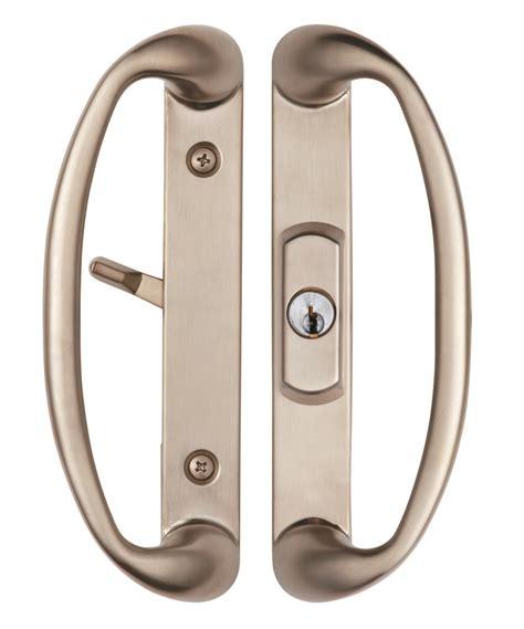 brushed nickel interior door sonoma sliding door handle with key lock system