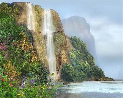 Desktop Waterfall Animated Backgrounds Screensavers Moving 3d