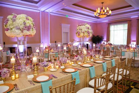 chic gold aqua and lavender wedding every last detail