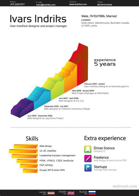 creative writing curriculum vitae 26 brilliant and colorful resume designs that will make you rethink your cv