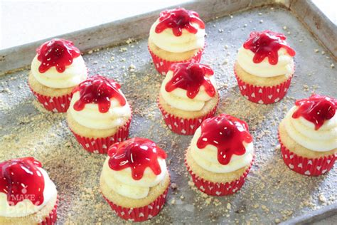 real seal challenge cherry cheesecake cupcakes