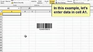 How to create barcodes in microsoft excel 2010 using th for Create barcode in excel