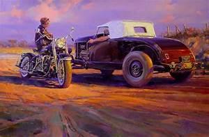 Free The Wheels     Tom Fritz Motorcycle Art