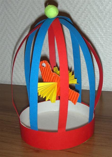 oiseau cage activit 233 bricolage fabriquer papier jouet