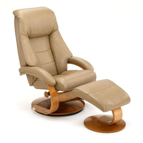 swivel recliner with ottoman mac motion oslo 58 series leather swivel recliner and