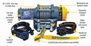 Superwinch 12 Volt Dc Powered Electric Atv Winch  U2014 2500