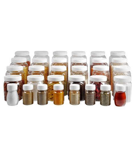Pearlpet Marigold Combo Of Jars And Spice Containers (32