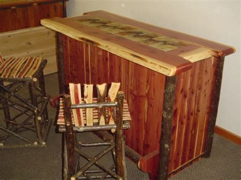 Red Cedar Rustic Bar ? Barn Wood Furniture   Rustic