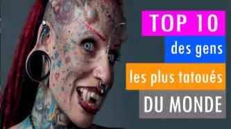 top 10 des gens les plus tatou 233 s du monde en 2015