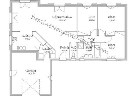 plan de maison 4 chambres plain pied gratuit plan de maison traditionnelle gratuit plan maison plain