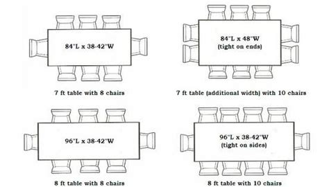 fabulous dining tables sizes dining room wonderful
