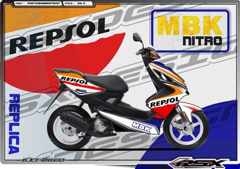 kit deco mbk x limit nitro replica repsol mbk mbni0508rprep rsx design kit deco racing