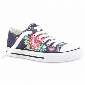 Freizeit Damen Sneakers Bunte Prints Canvas 811076 Schuhe | eBay