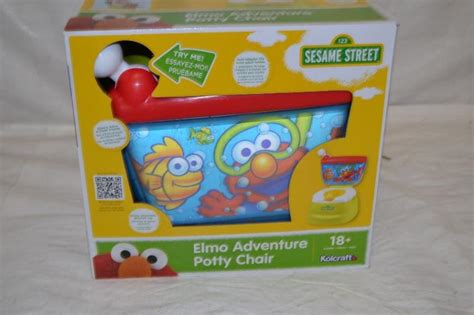 sesame elmo adventure potty chair sesame elmo adventure potty chair ebay