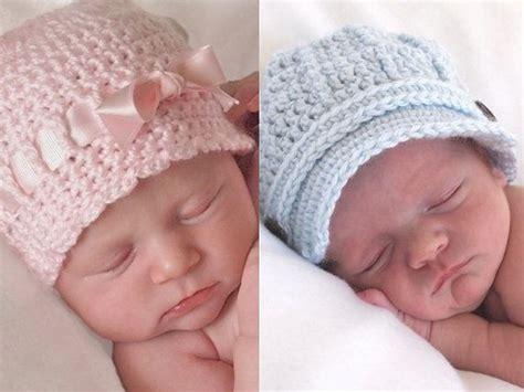 newborn twins photo prop hats baby crochet hats set twin