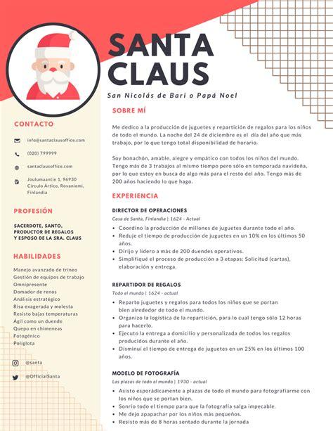Modèle Présentation Cv by El Cv De Santa Claus Occmundial