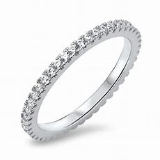 Wedding Eternity Clear Cz Wholesale Ring New 925 Sterling