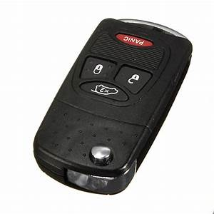 Buy 4 Buttons Flip Remote Key Fob Shell Case For Chrysler