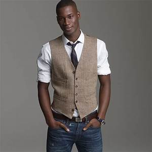 Lyst - J.Crew Linen Herringbone Suit Vest in Brown for Men