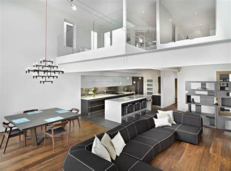 modern kitchen living room ideas living room dining and kitchen modern living room edmonton by habitat studio