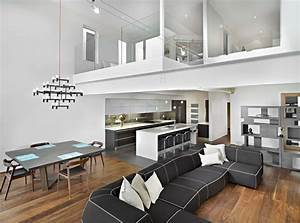 Living room dining and kitchen modern living room for Modern cabinets for living room