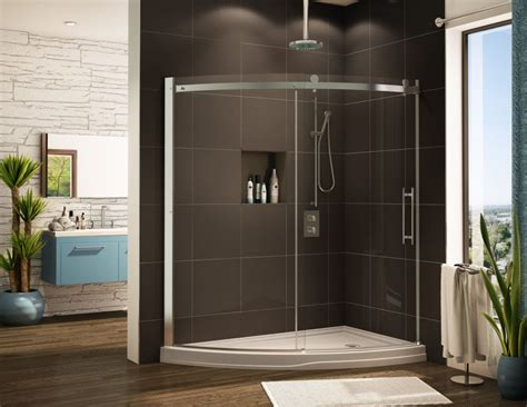 acrylic  curved cool shower base pan systems