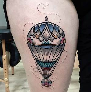 48 Incredible Hot Air Balloon Tattoo Designs | Air balloon ...