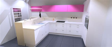 hygena cuisine 3d cuisine grise plan de travail beige