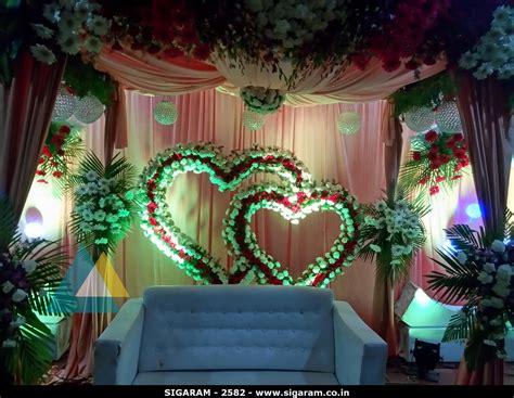 wedding reception decoration at subalakshmi thirumana