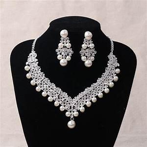 fashion pearl wedding bridal jewelry sets for