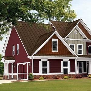 exterior paint color with white trim paint roof slate With colored steel roof panels