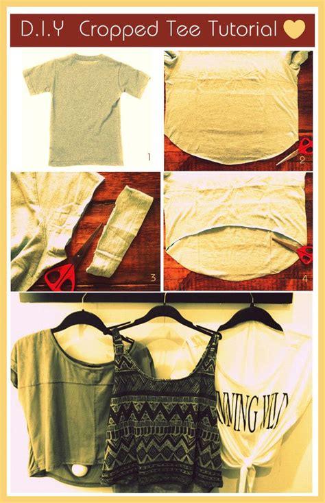 Upgrade Your Tshirts Diy Crop Tops  Pretty Designs