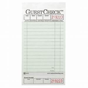 national guestchecks restaurant guest check pads skuntc525 With restaurant guest check template