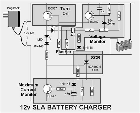 Sealed Lead Acid Battery Charger Power Supply
