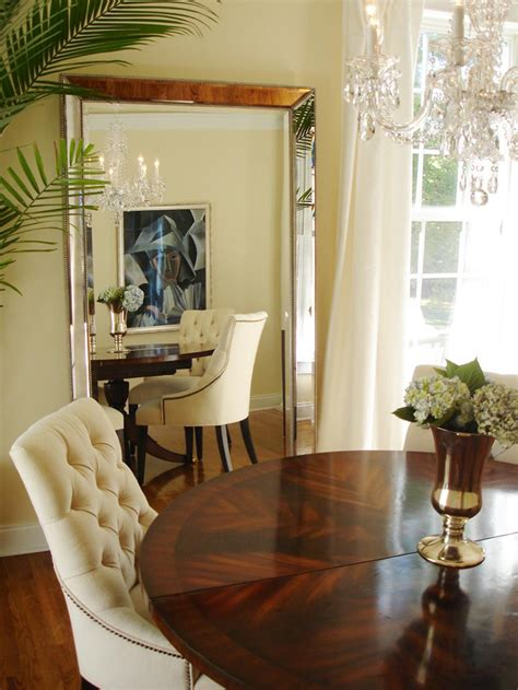 floor mirror in dining room transform small spaces with hgtv hgtv