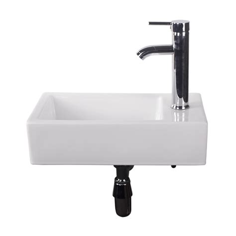 Rectangle Bathroom Sink by Walcut Bathroom Wall Mount Rectangle Corner Sink White