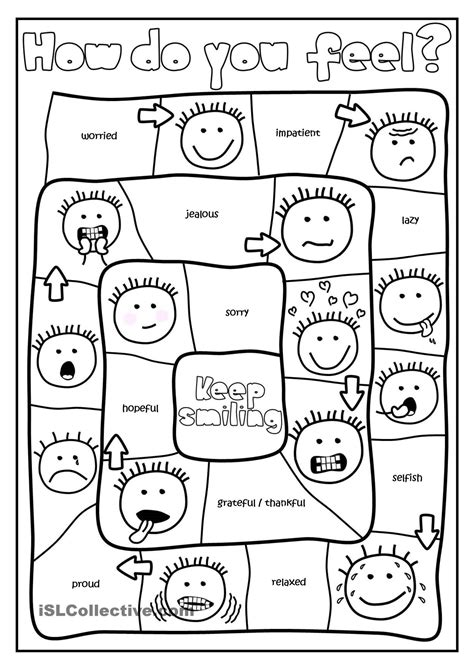 printable feelings worksheets  preschoolers