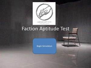 DIVERGENT: Faction aptitude test (1)