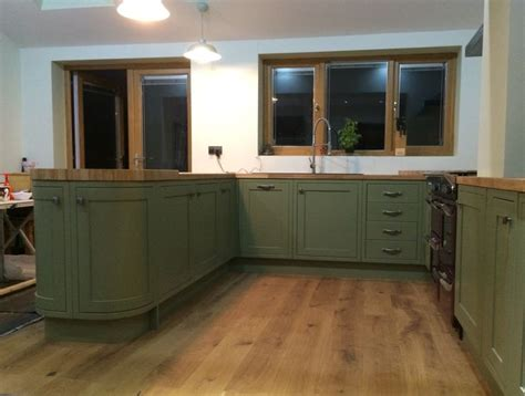 how to make an island for your kitchen bespoke painted kitchen in olive farrow olive 9789